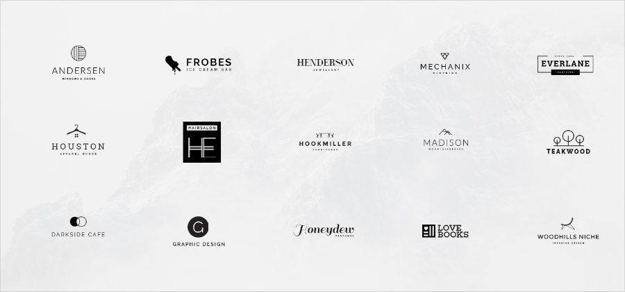 minimal logo designs in psd