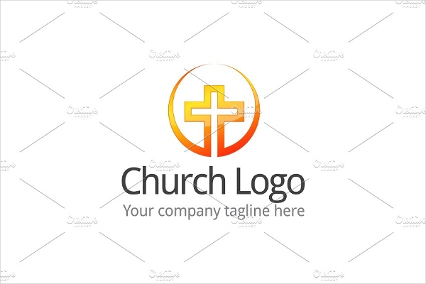 minimalist rounded church logo design