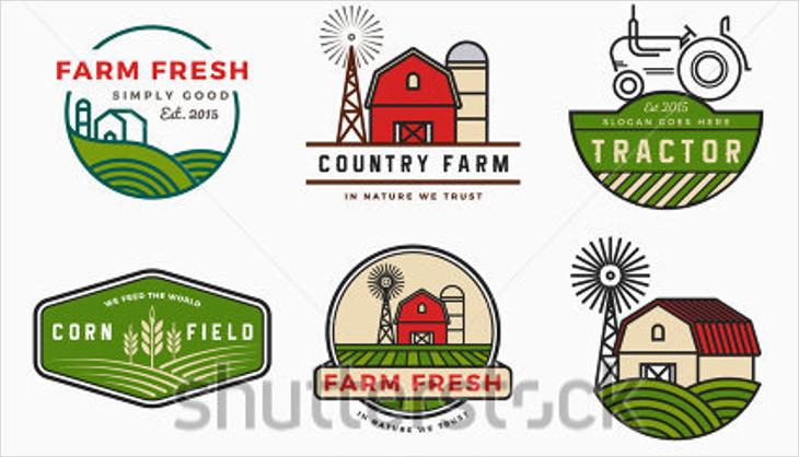 modern farm fresh vector logo designs