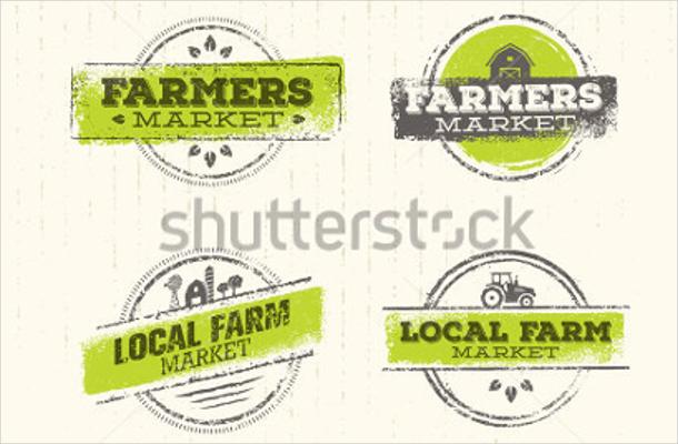 rustic creative local farmer's market logo design