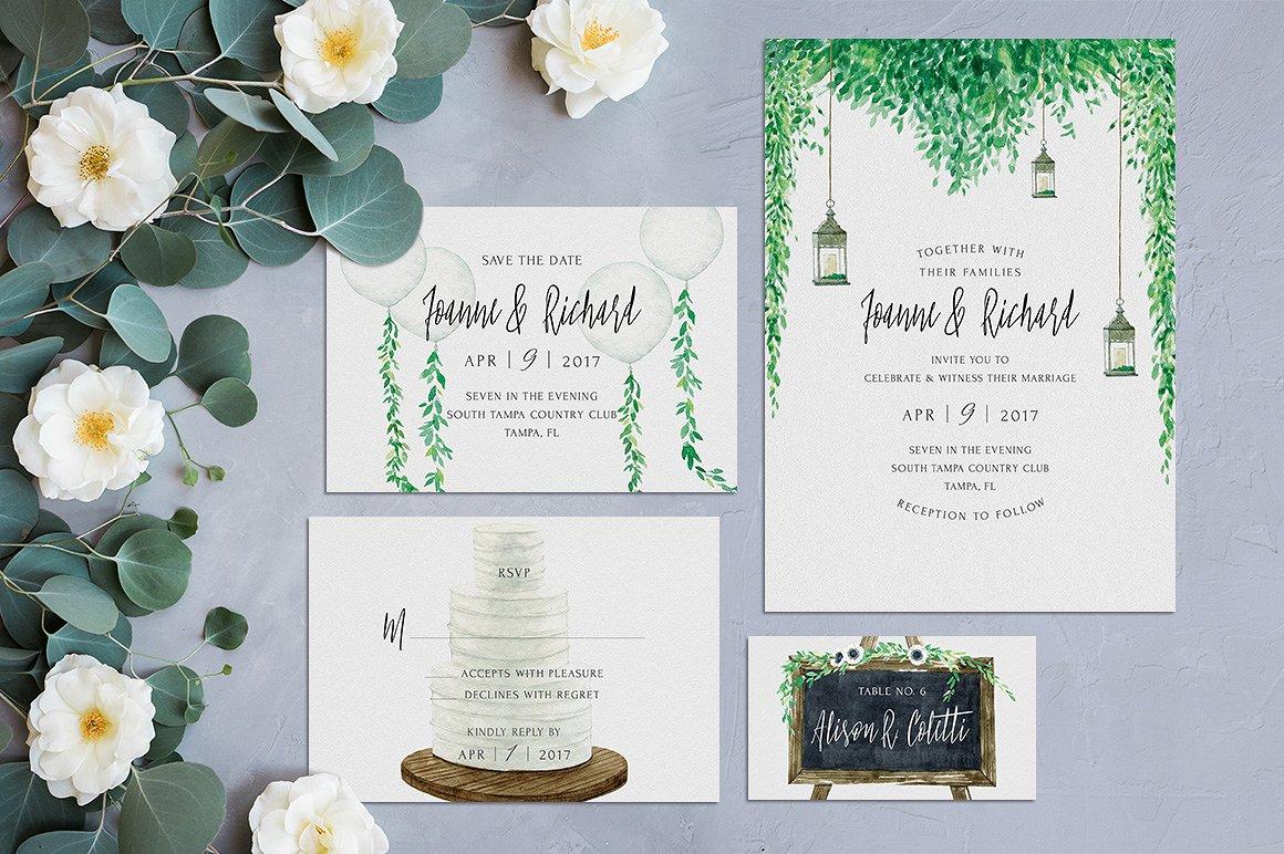 rustic marriage invitation