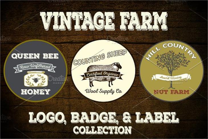 rustic vintage farm logo designs