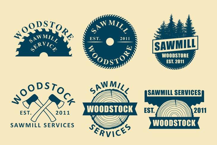 Sawmill Vector Logo Designs