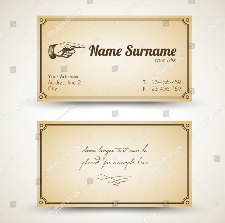 Script Typography Minimalistic Vintage Business Card