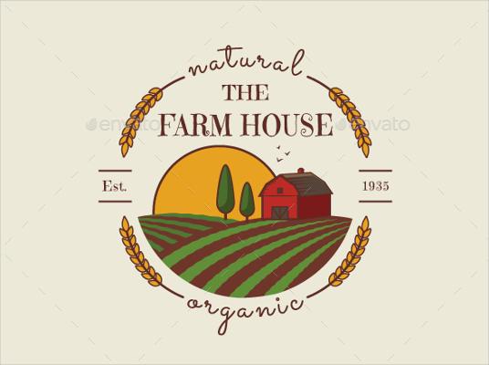 the farm house logo designs