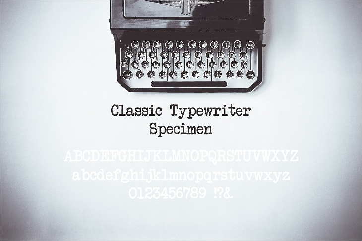 typewriter inspired typefaces