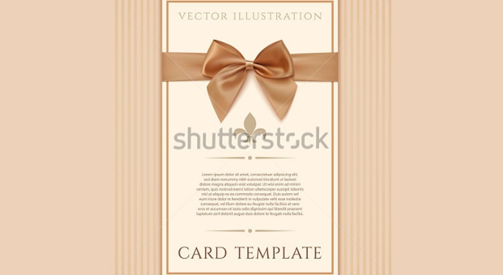 Vintage Greeting Card Design with Bow