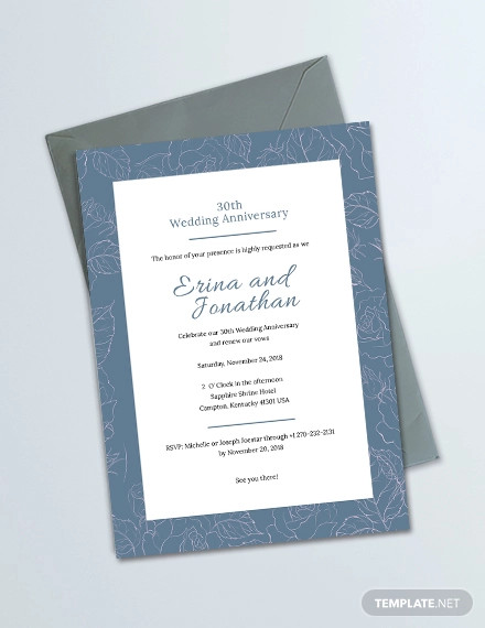 wedding anniversary invitation card