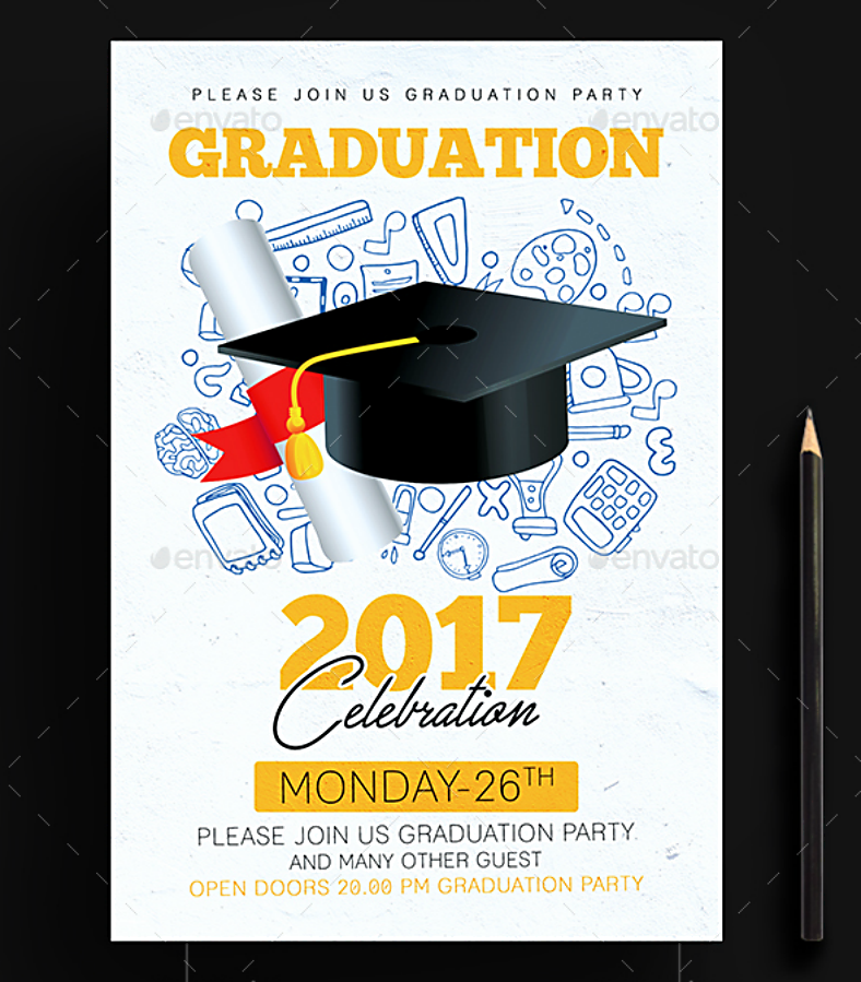 9 graduation invitation card designs psd ai indesign design