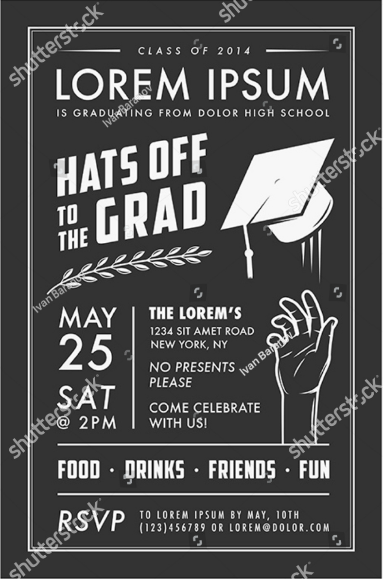 graduation invitation card