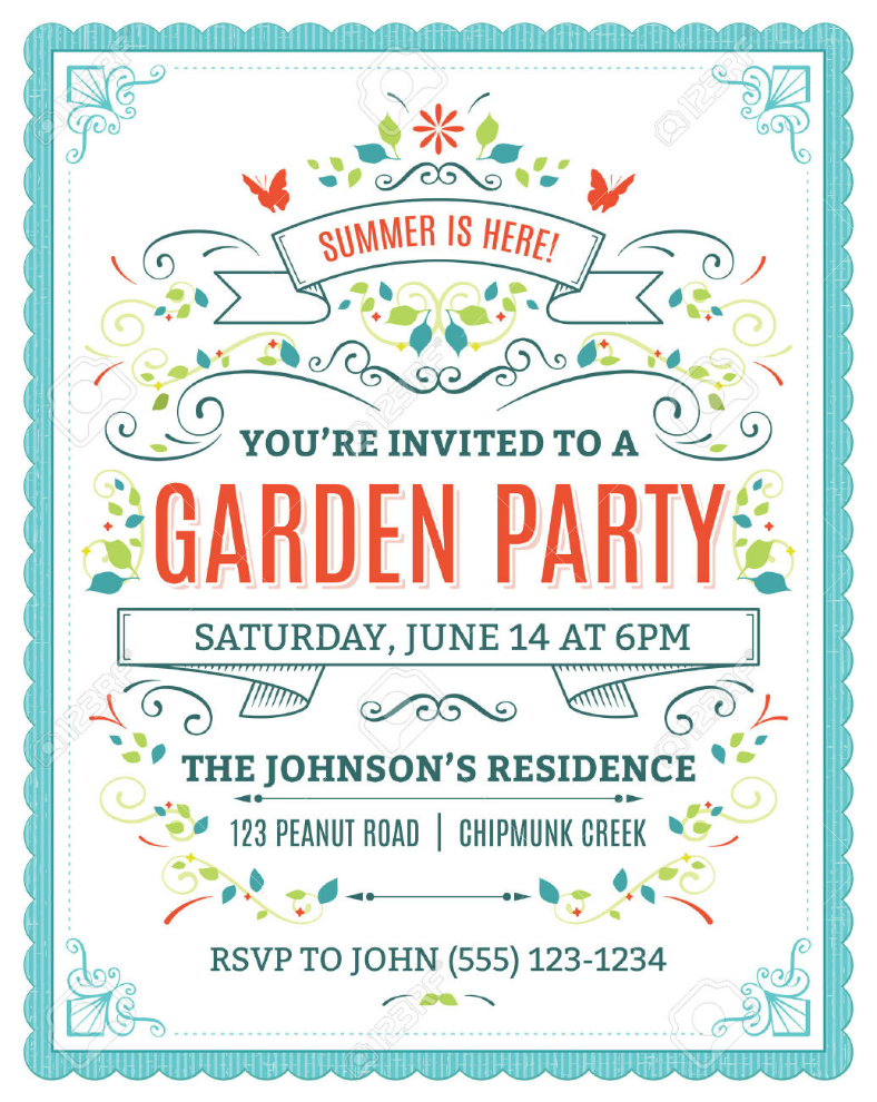 party invitation psd