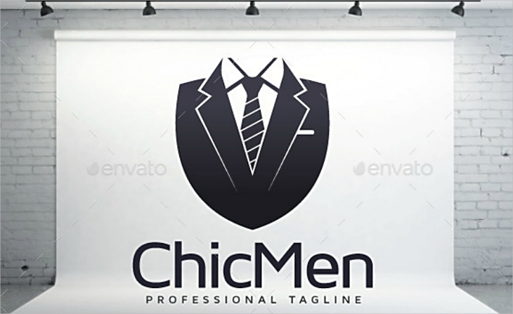 chic men professional tie logo design