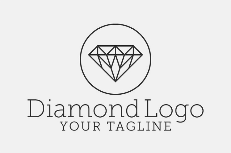 Courier Linear Diamond Logo Design