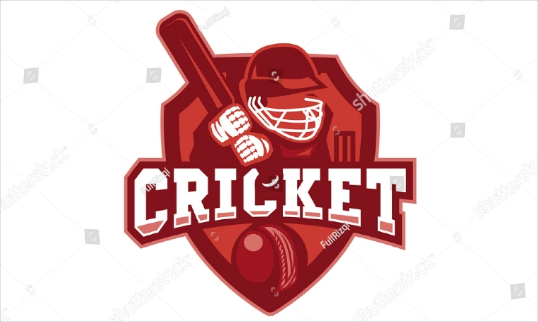 Cricket Team Emblem Type Logo Design
