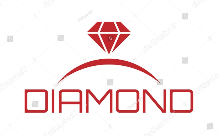 Engagement Ring Diamond Logo Design