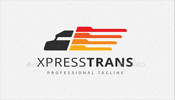 Express Transport Delivery Truck Logo