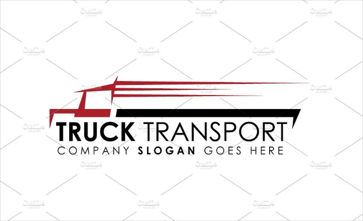 Fast Transport Truck Logo Design