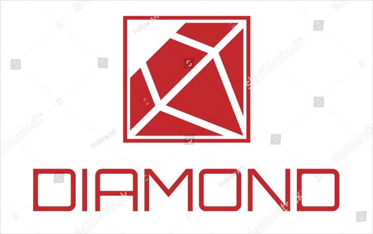 Flat Framed Diamond Logo Design