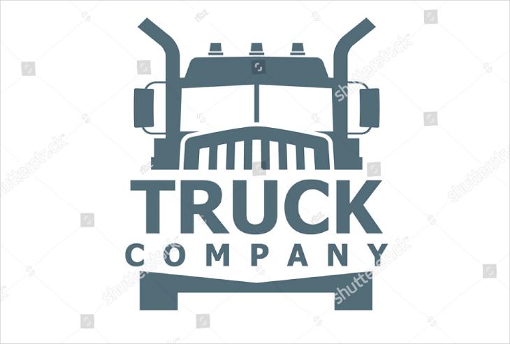 flat truck company logo design
