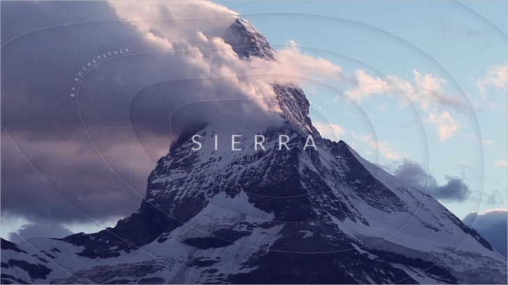 Inspiring Sierra Parallax After Effects Slideshow