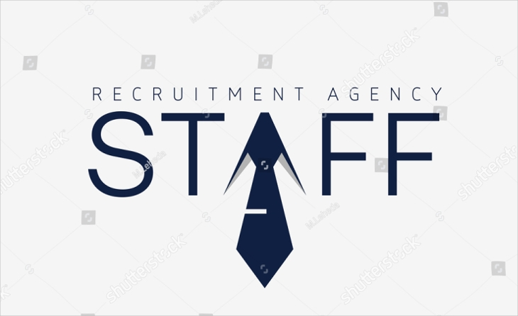 recruitment agency tie logo design