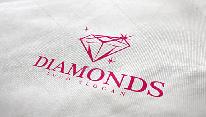 Simple Gleaming Diamond Logo Design