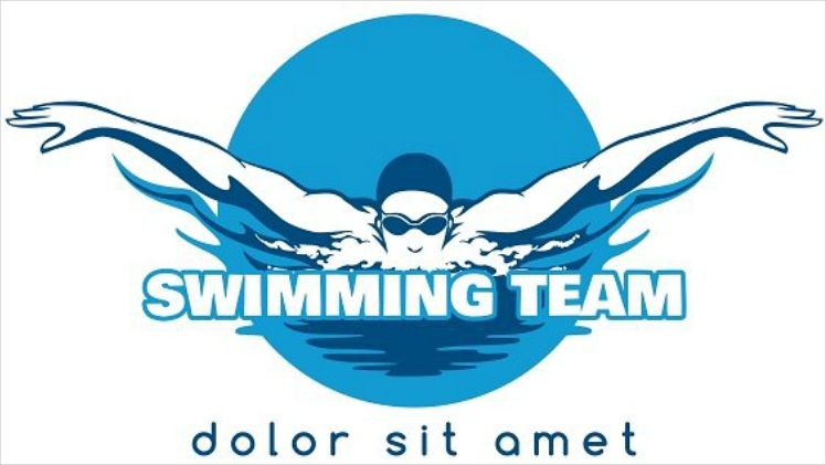 Swimming Team Vector Logo Design