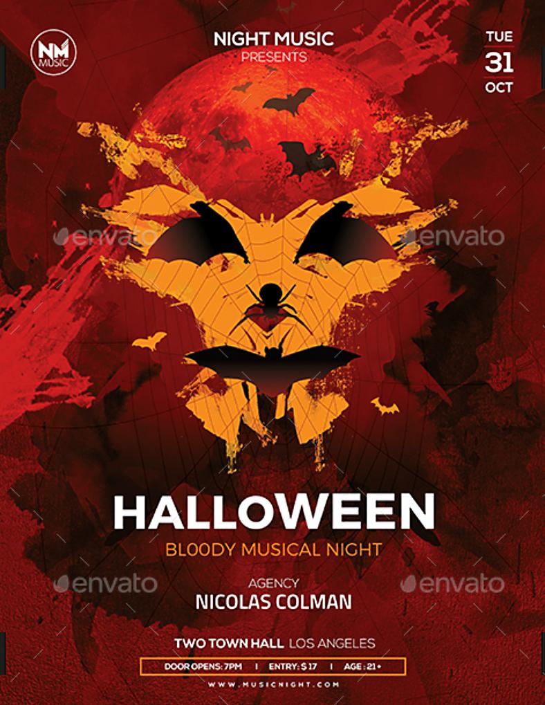 halloween flyers