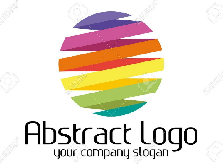 abstract rounded colorful logo design