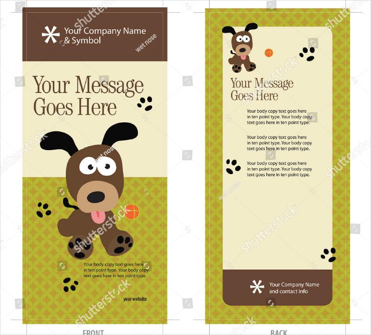 Animal Company Rack Card Design