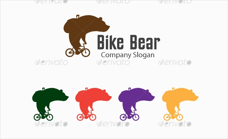 bike bear silhouette cool company