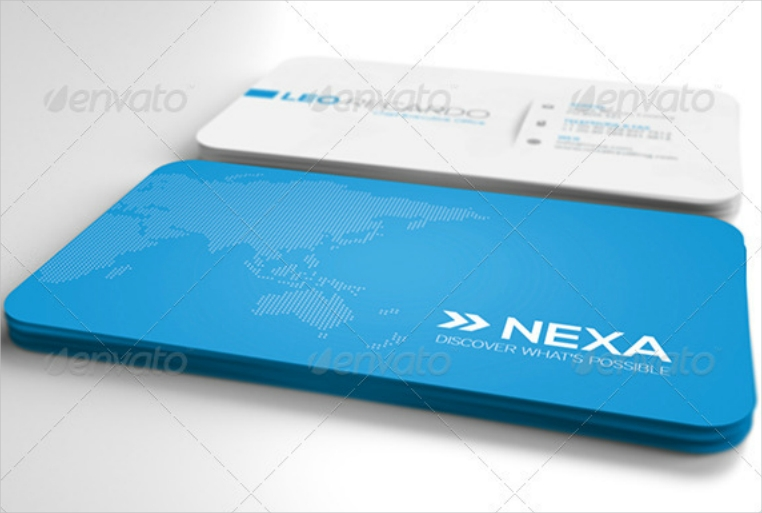 Blue Map Simple Business Card