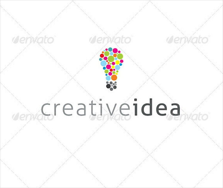 colored dots creative idea logo design