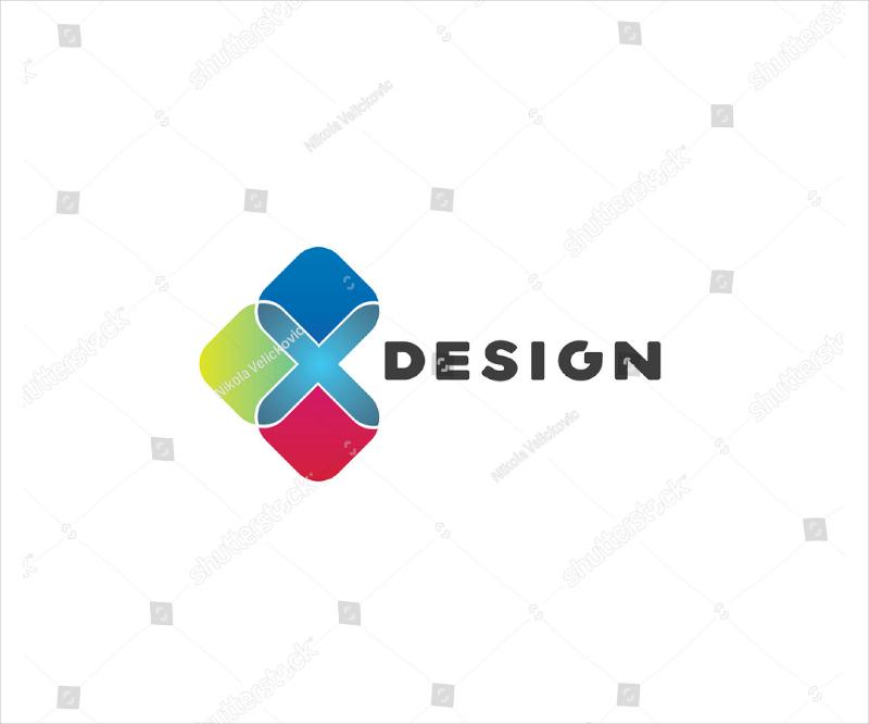 colorful shapes modern logo design