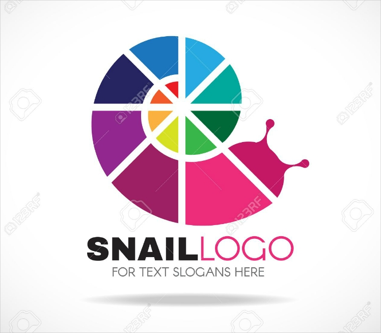 colorful snail logo design