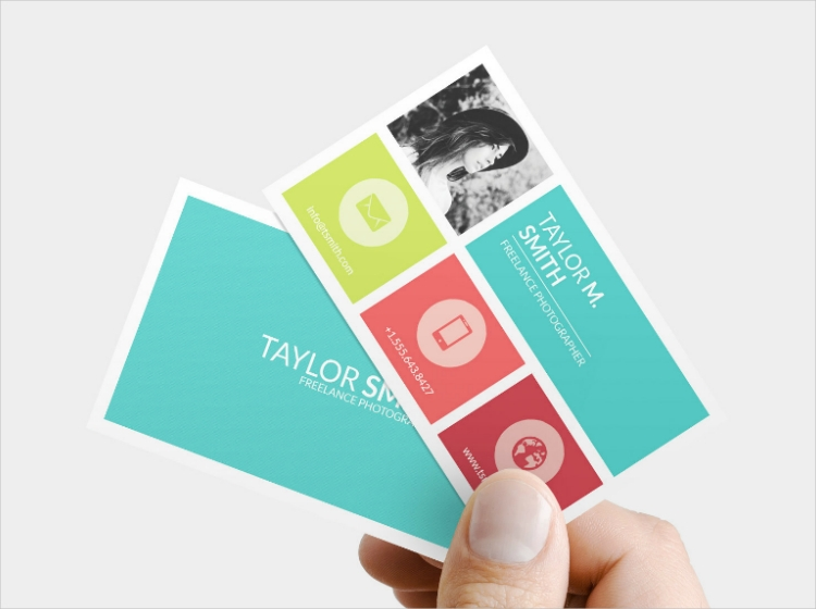 Colorful Tiles Business Card Design