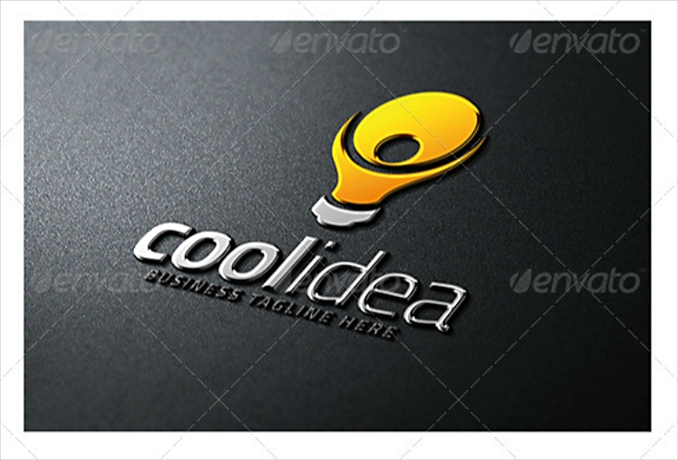 cool idea light bulb logo design