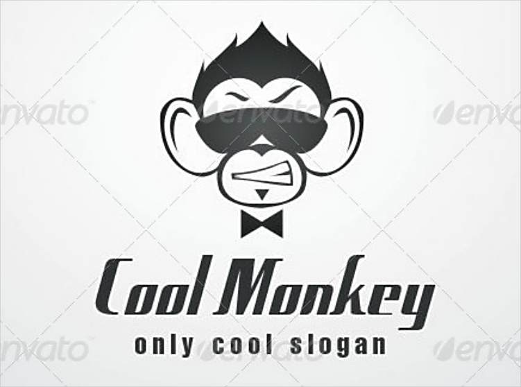 cool monkey company logo design