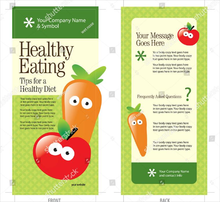 Flat-Healthy-Food-Illustrations-Rack-Card-Design1