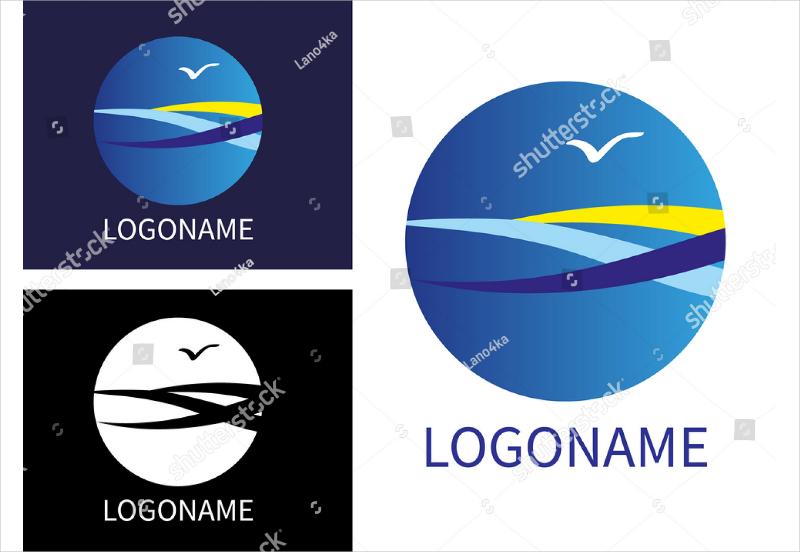 Flat Modern Business Logo Design
