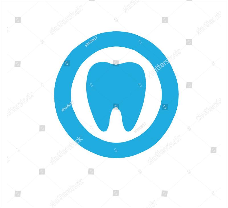 Flat Tooth Modern Dental Logo Design