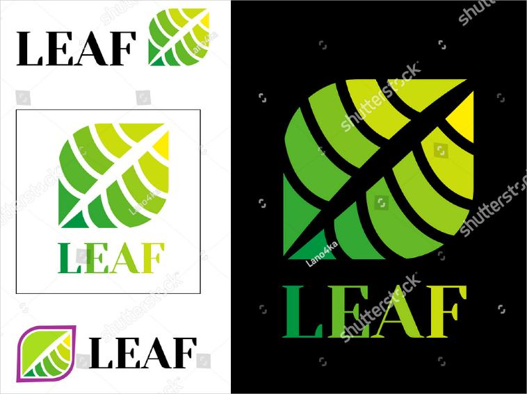 Green Leaf Modern Logo Design