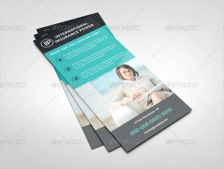 International Insurance Rack Card Design