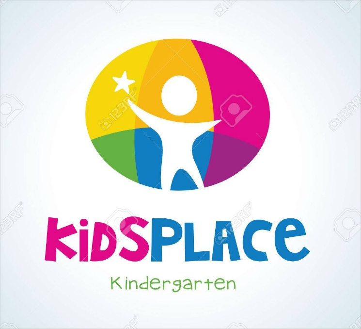 kids place colorful rounded logo design