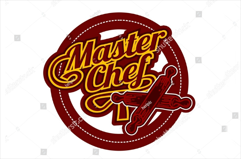 master chef emblem text logo design1