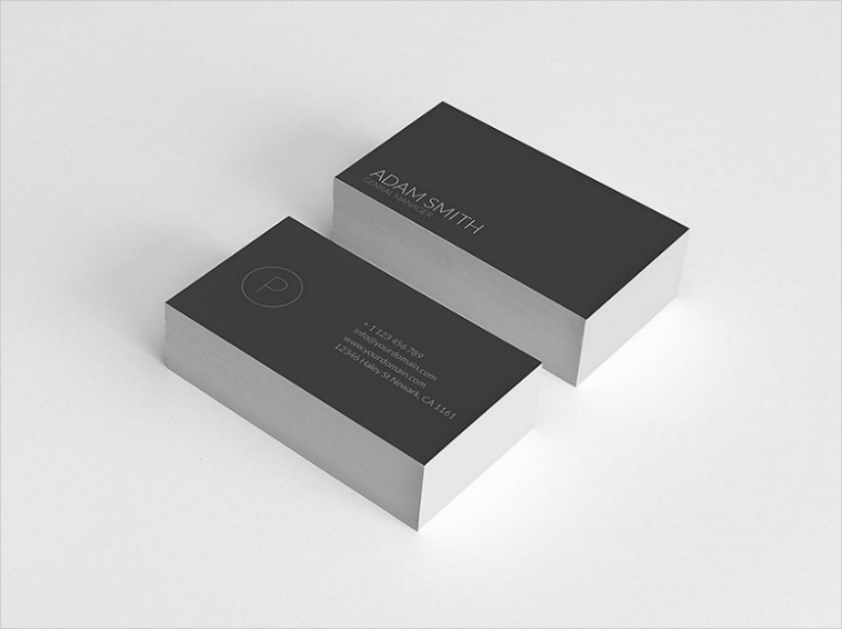Minimalist Typography Business Card Design