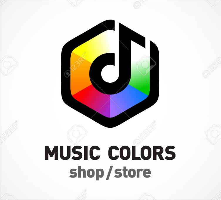 music colors business logo design