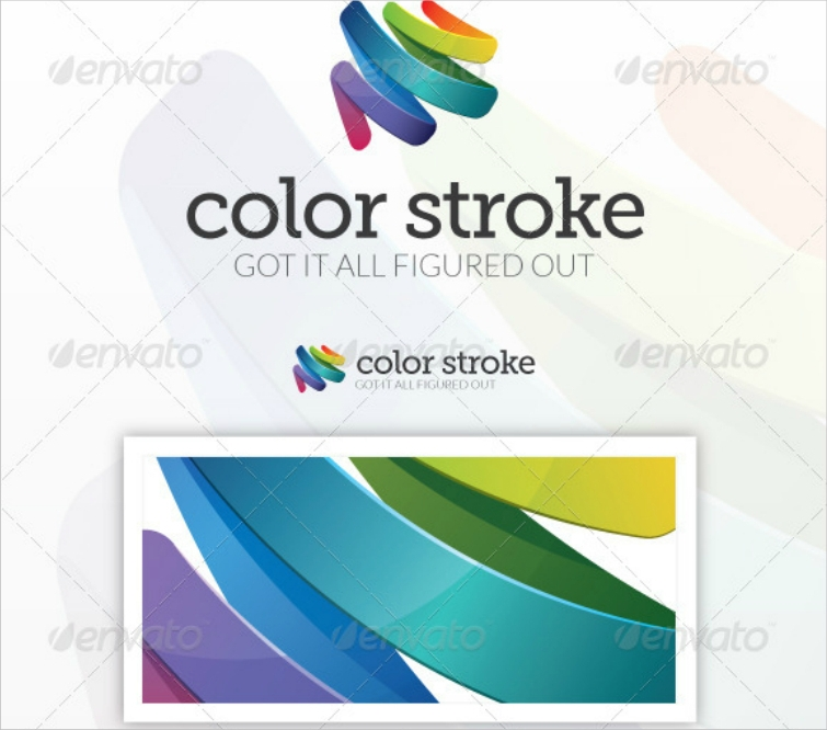 shiny colored brush strokes logo design2