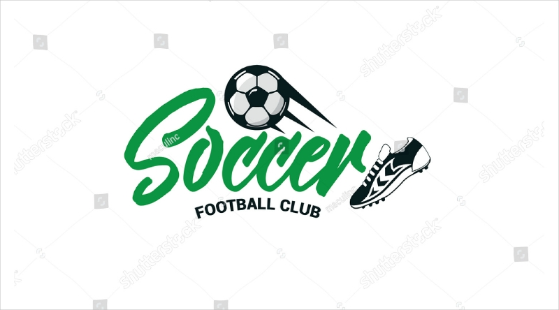 soccer club text logo design