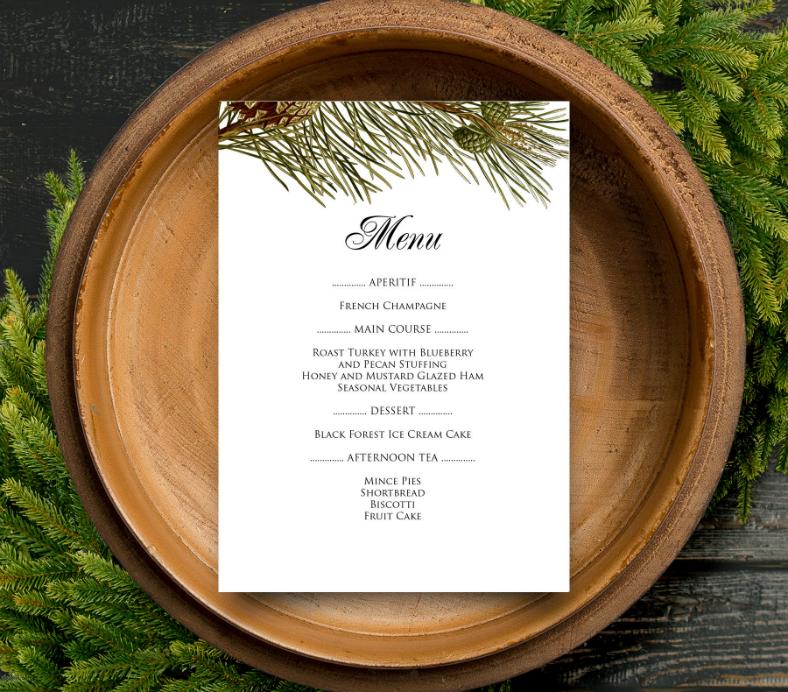 dinner menu designs